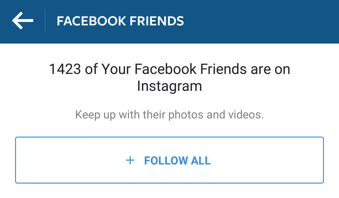 Your Facebook friends are a great starting point for building Instagram followers.