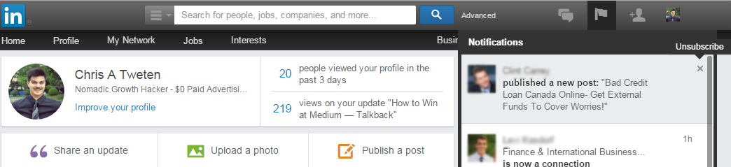 unfollowing people on LinkedIn