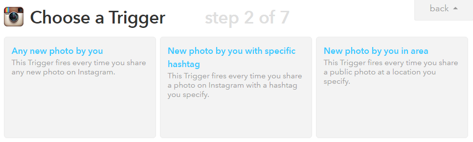 Save Instagram photos automatically with a simple to set up IFTTT recipe.
