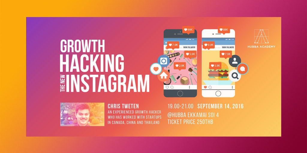 Growth Hacking the New Instagram @HUBBA-TO, Bangkok